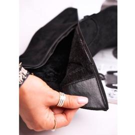 Ideal Women's Boots On High Heel Eco-Suede Black Ecstasy 6