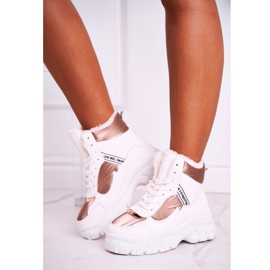 Marquiiz Women's Sport Snow Boots With Fur White Euphoria 2