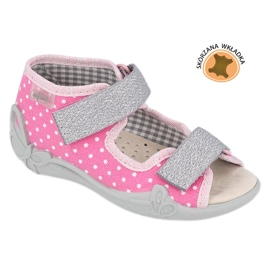 Befado yellow children's shoes 342P024 pink grey 1