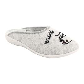 Felt Slippers Wake Up Adanex 25642 Gray black grey 2