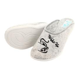 Felt Slippers Wake Up Adanex 25642 Gray black grey 4
