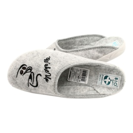 Felt Slippers Wake Up Adanex 25642 Gray black grey 5