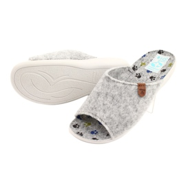 Felt slippers Adanex 25494 gray grey 3