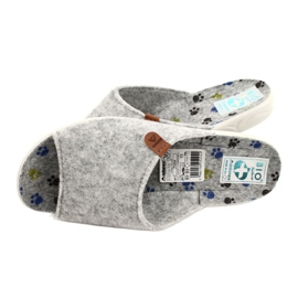 Felt slippers Adanex 25494 gray grey 4