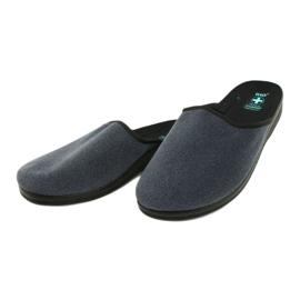 Men's Adanex 24141 slippers black blue 2