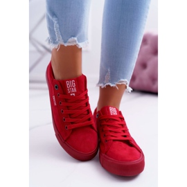 Women's Sneakers Big Star Suede Red EE274044 2