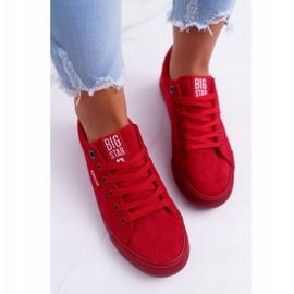 Women's Sneakers Big Star Suede Red EE274044 3