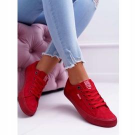 Women's Sneakers Big Star Suede Red EE274044 5