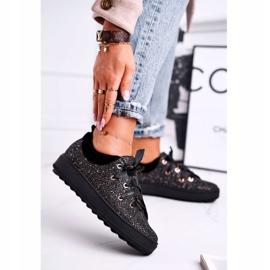 Women's Sneakers Elegant Leather Laura Messi Black 2045 1