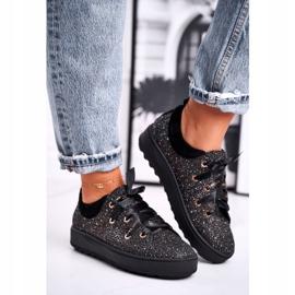 Women's Sneakers Elegant Leather Laura Messi Black 2045 3