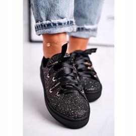 Women's Sneakers Elegant Leather Laura Messi Black 2045 4