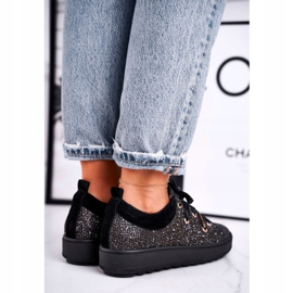 Women's Sneakers Elegant Leather Laura Messi Black 2045 5