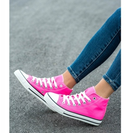 SHELOVET High Sneakers pink 1
