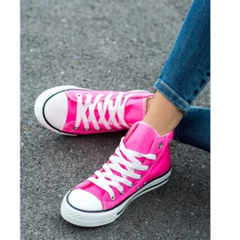 SHELOVET High Sneakers pink 4