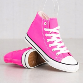 SHELOVET High Sneakers pink 2