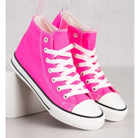 SHELOVET High Sneakers pink 3
