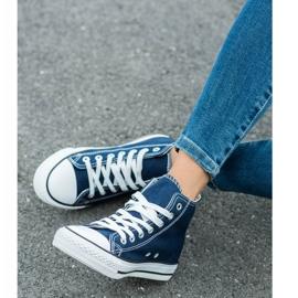 SHELOVET High Sneakers blue 2