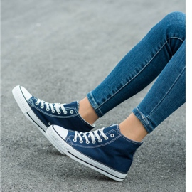 SHELOVET High Sneakers blue 1