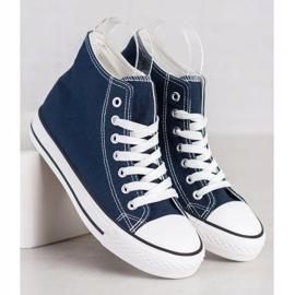 SHELOVET High Sneakers blue 3