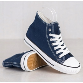 SHELOVET High Sneakers blue 4