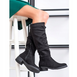 Sweet Shoes Suede boots black 1