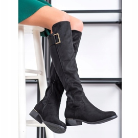 Evento Boots With A Decorative Belt black 1