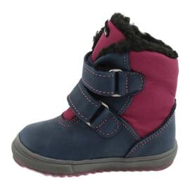 Boots boots with TE-POR Mazurek 1351 M membrane navy pink 1