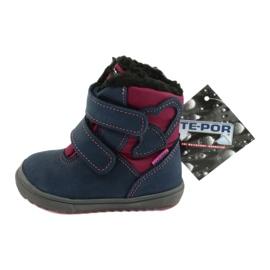 Boots boots with TE-POR Mazurek 1351 M membrane navy pink 5