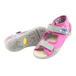 Befado yellow children's shoes 342P016 pink silver grey 3