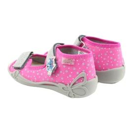 Befado yellow children's shoes 342P016 pink silver grey 4