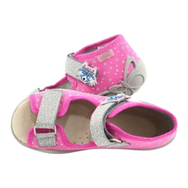 Befado yellow children's shoes 342P016 pink silver grey 5