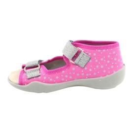 Befado yellow children's shoes 342P016 pink silver grey 2