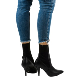 Black high heels with a Daywillow sock 3