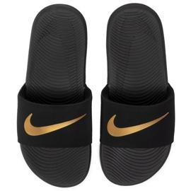 Nike Kawa Slide (GS / PS) black slippers for kids 819 352 003 2
