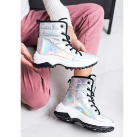SHELOVET Comfortable Holo Snow Boots white multicolored 1