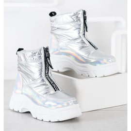 SHELOVET Snow Boots On The Slider silver 2