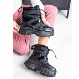 SHELOVET Black Snow Boots With Warming 2