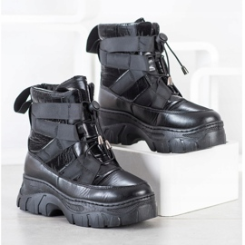 SHELOVET Black Snow Boots With Warming 3