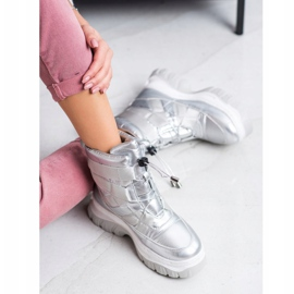 SHELOVET Warming Silver Snow Boots 2