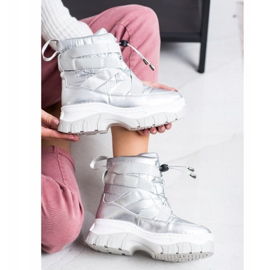 SHELOVET Warming Silver Snow Boots 1