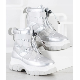 SHELOVET Warming Silver Snow Boots 3