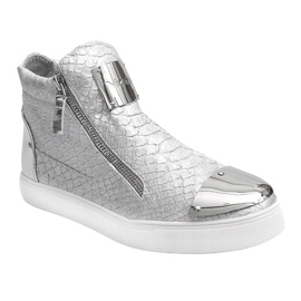 High-top Sneakers Q55 Silver 1
