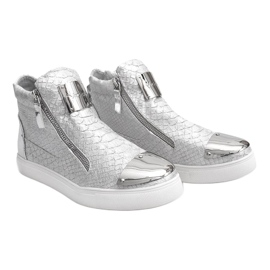 High-top Sneakers Q55 Silver 2