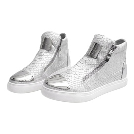 High-top Sneakers Q55 Silver 3