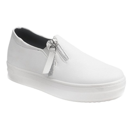 Creepersy Wedge Sneakers 888 White 1