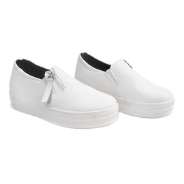 Creepersy Wedge Sneakers 888 White 2