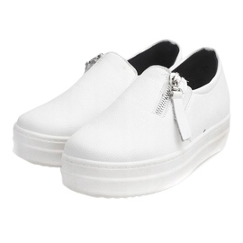 Creepersy Wedge Sneakers 888 White 3
