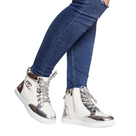 High-top Sneakers R17 White silver 1