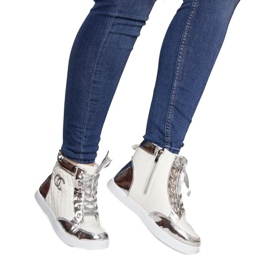 High-top Sneakers R17 White silver 2