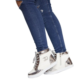 High-top Sneakers R17 White silver 3